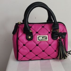 Luv Betsey by Betsy Johnson mini purse hot pink